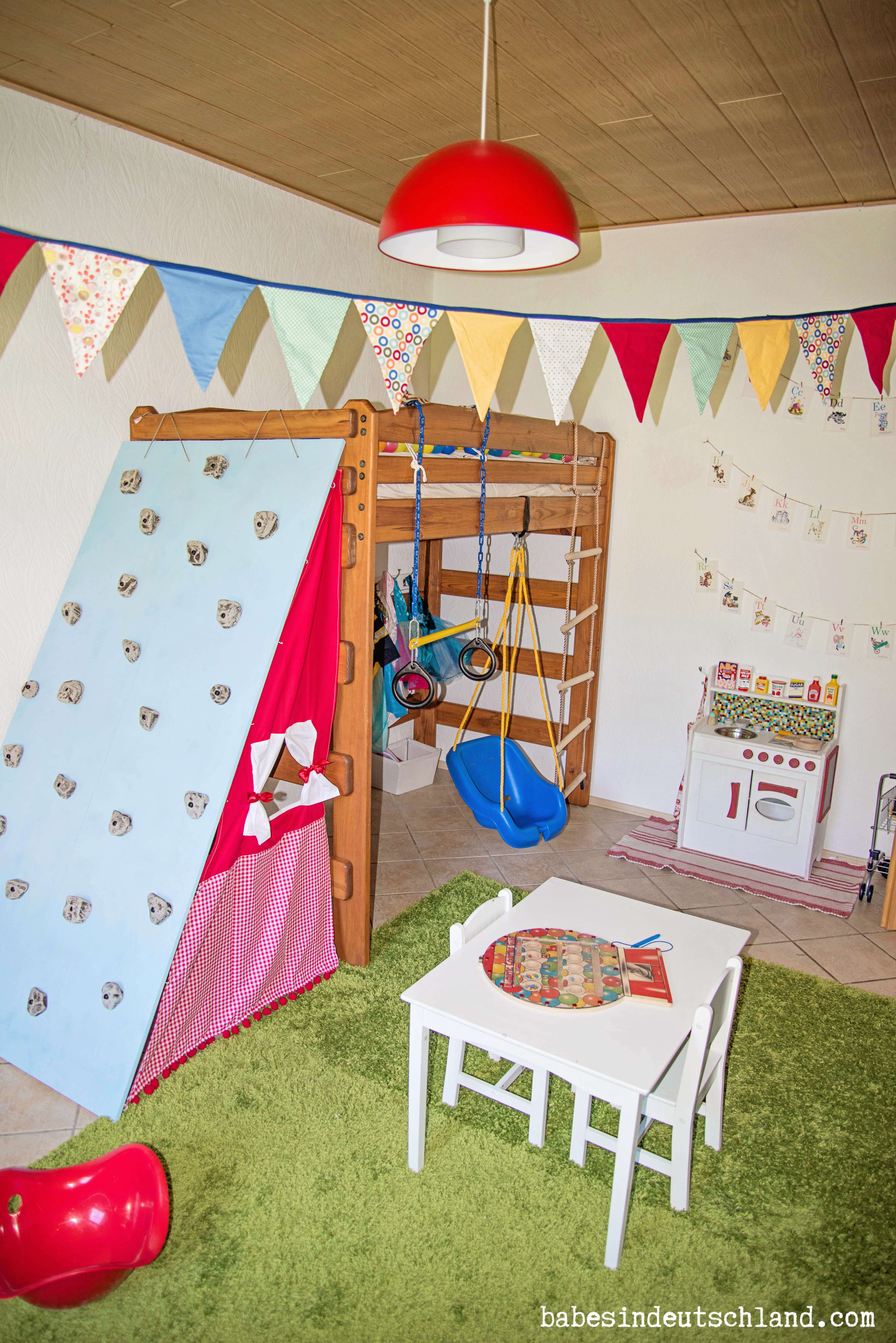 Babes in Deutschland, a whimsical woodland playroom