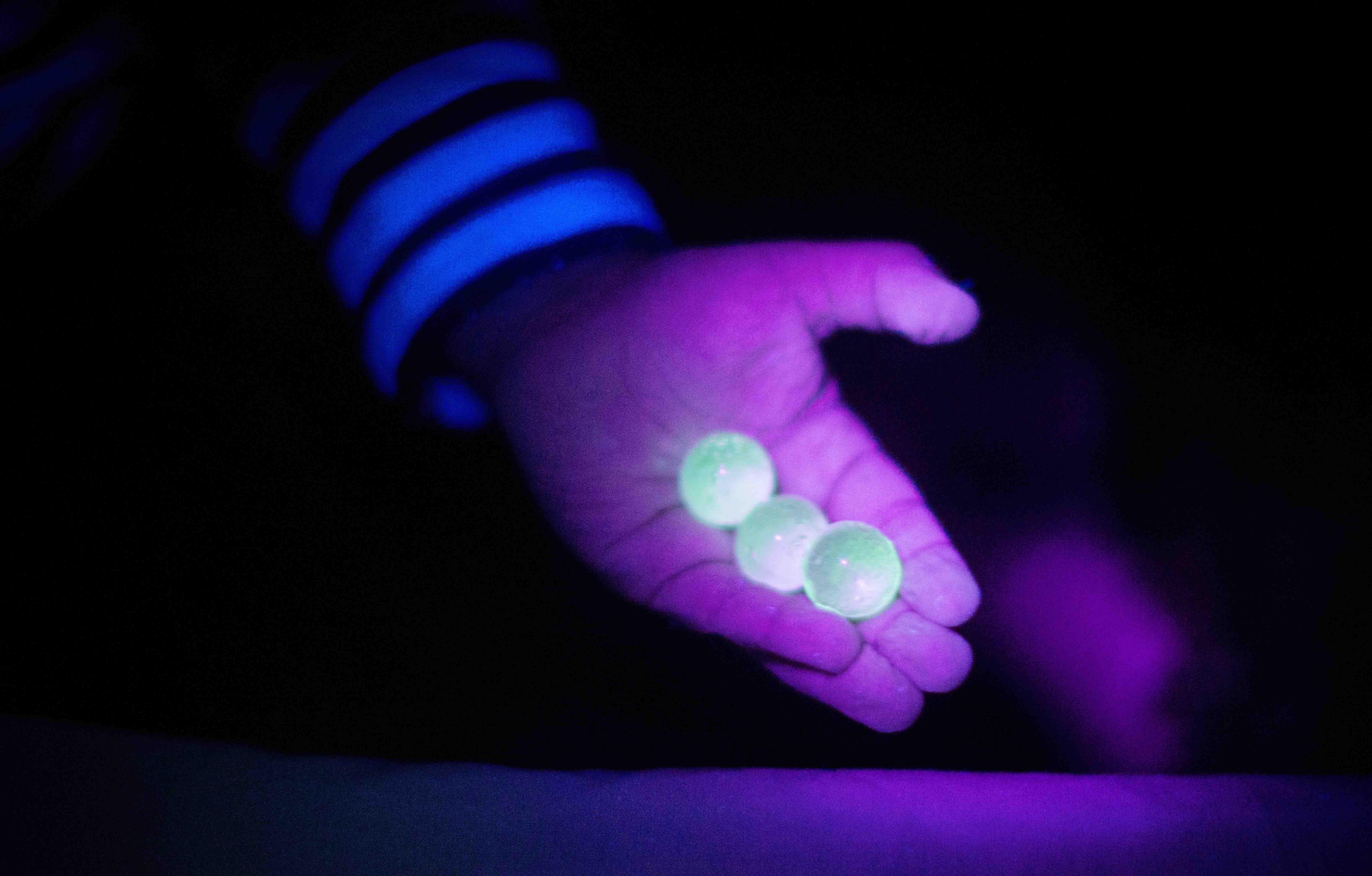 Glow in the dark water beads