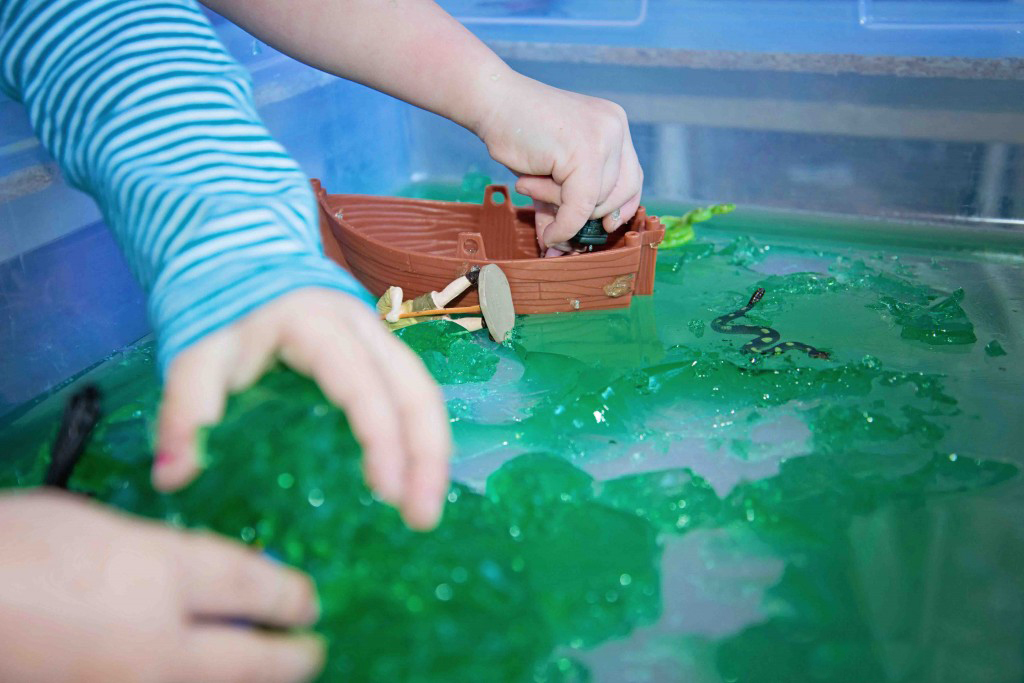 A Jello Pond Sensory Bin from Life Lesson Plans