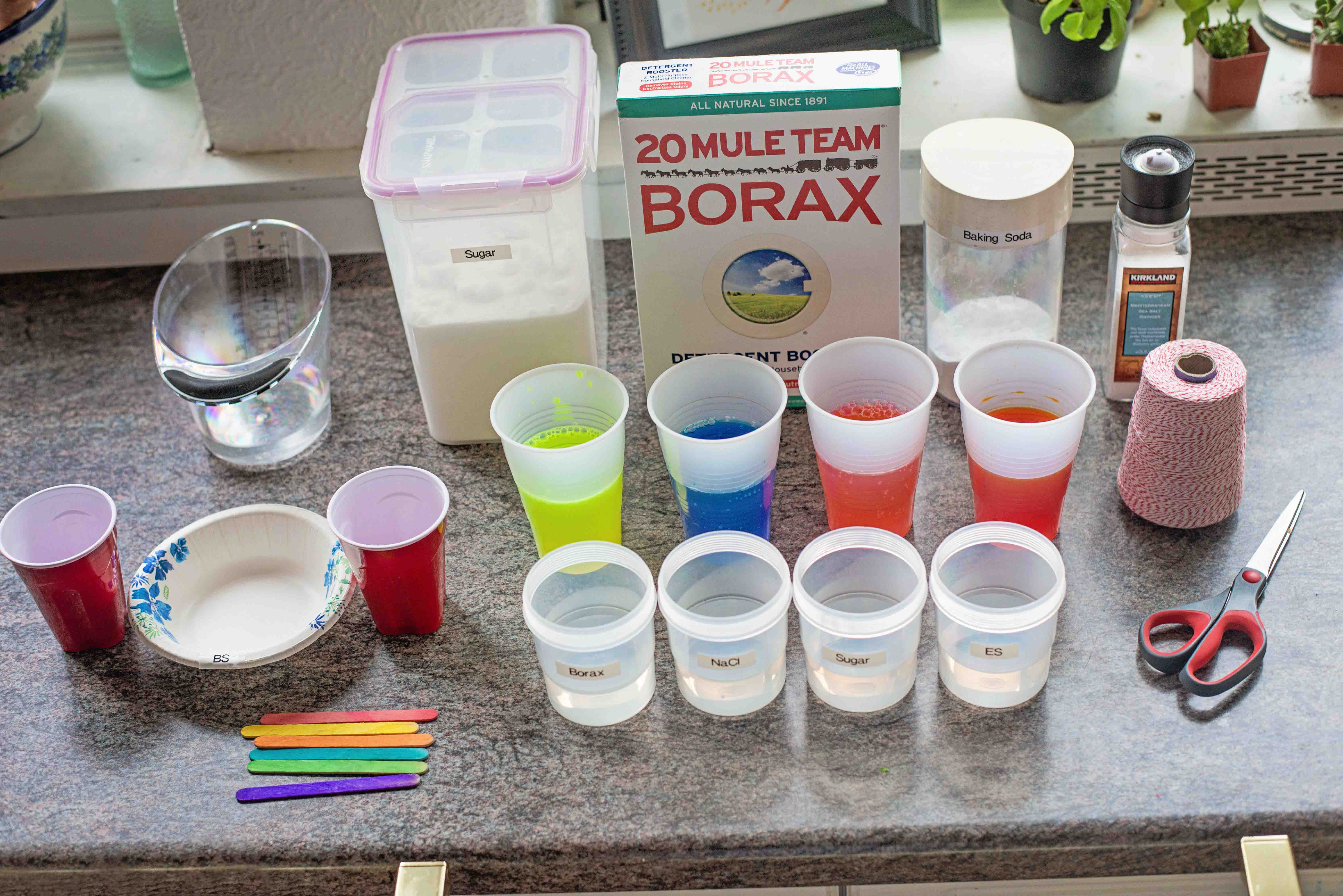How to grow GLOWING crystals, and what to do with them once you're done! A kid's science experiment by Babes in Deutschland