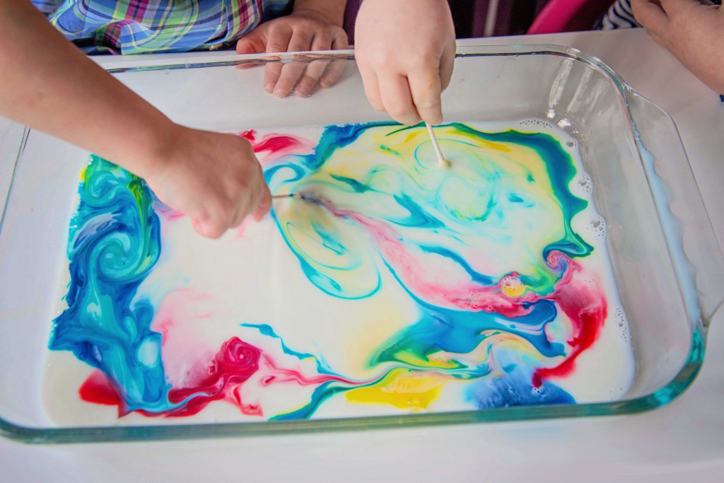 Learn about color theory with this magic milk experiment from Life Lesson Plans