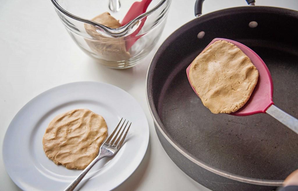 Peanut Butter Dough Pretend Pancakes: An edible, sensory invitation to play