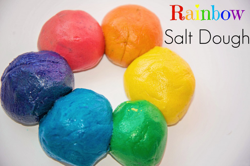 Rainbow Salt Dough Recipe by Life Lesson Plans