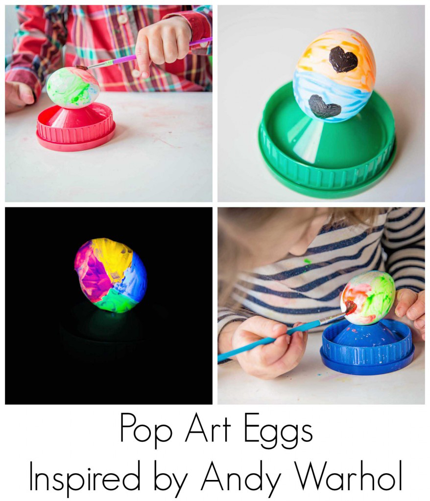 Pop Art Eggs, inspired by Andy Warhol