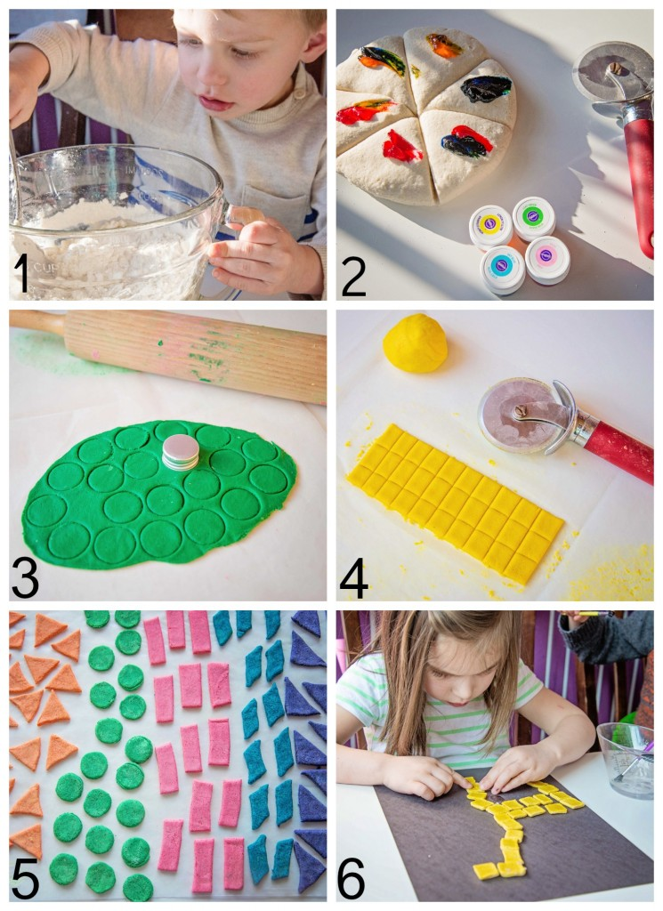 DIY Salt Dough Mosaic Tiles by Life Lesson Plans