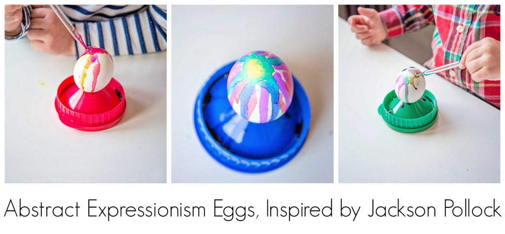 Abstract-Expressionism Eggs, inspired by Jackson Pollock