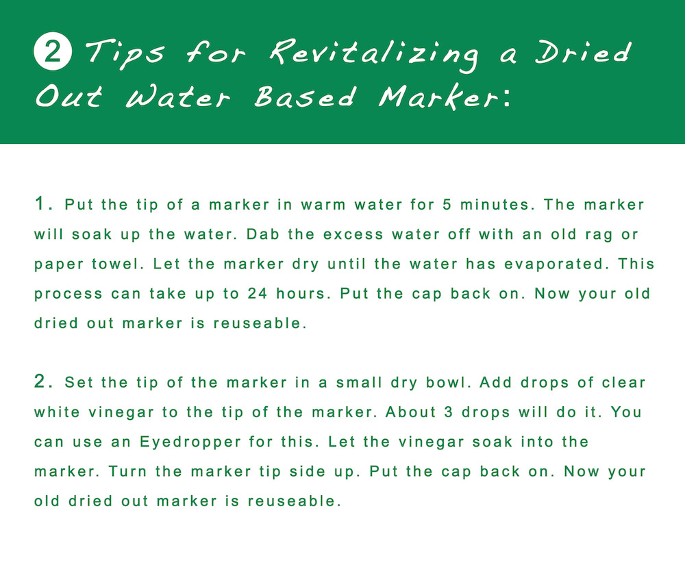 2 Tips for Revitalizing a Dried Out a Water Based Marker