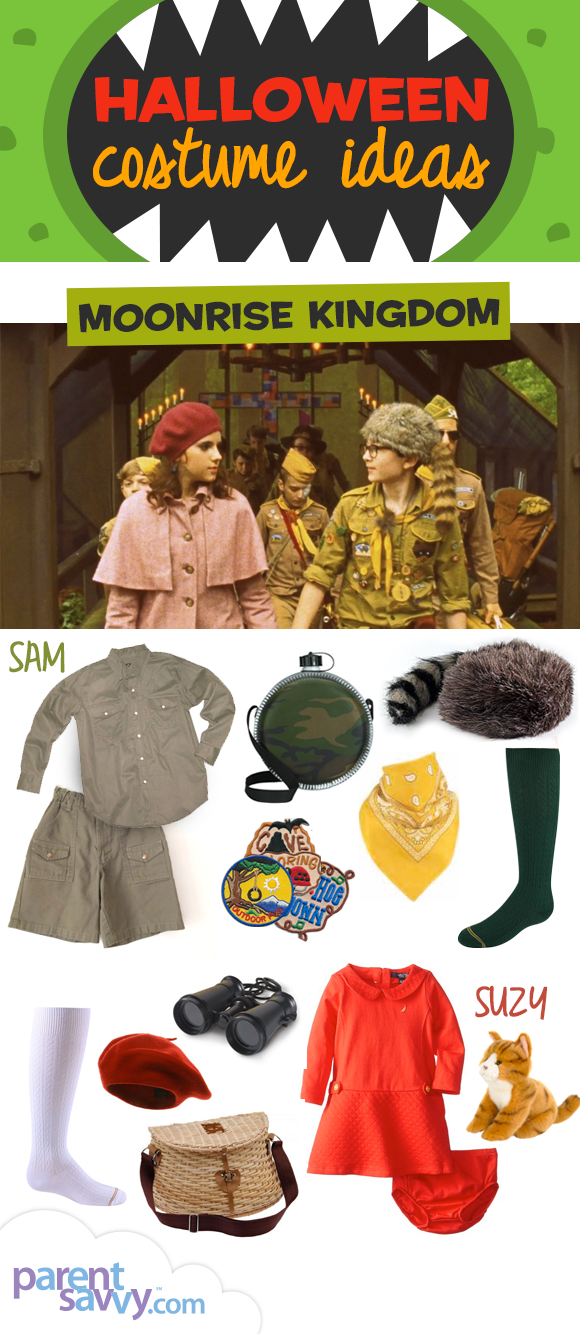 This costume idea is the adorable duo Sam and Suzy from the movie Moonrise Kingdom. Use it for a brother-sister duo father-daughter mother-son or just a ...  sc 1 st  ParentSavvy & Halloween Costume Ideas: Moonrise Kingdom | ParentSavvy
