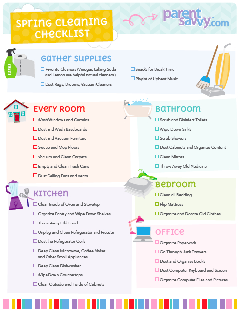 Spring Cleaning Checklist | Parentsavvy
