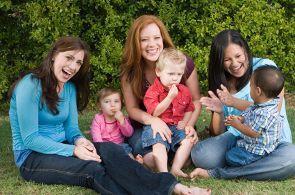 mothers with a child's playgroup